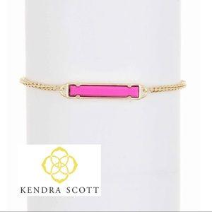 Magenta Leanor Pendant Bracelet